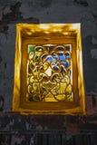 As janelas da cor da Sete-milha Shantang, Suzhou foto de stock