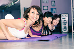 Meninas da ginástica aeróbica fotos de stock