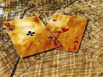 as karty przestawni dwa Fotografia Royalty Free