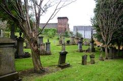 Lápides na necrópolis de Glasgow fotografia de stock