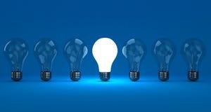 As lâmpadas ilustração stock