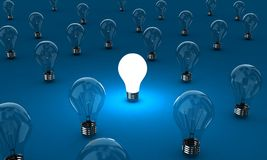 As lâmpadas ilustração do vetor