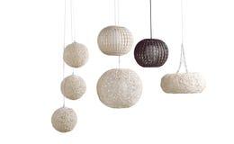 As lâmpadas do teto do rattan imagem de stock royalty free