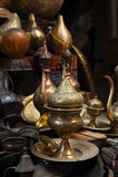 As lâmpadas, ofícios, lembranças na rua compram no Cairo, Egito Fotos de Stock Royalty Free
