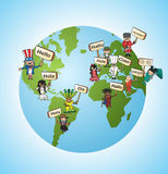 As línguas globais traduzem o conceito Imagem de Stock Royalty Free