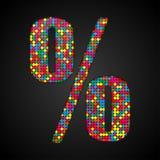 As lantejoulas coloridas cantam Alfabeto das lantejoulas Eps 10 Imagem de Stock