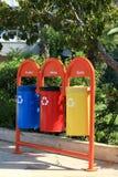 As latas de lixo Imagens de Stock Royalty Free