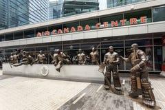 As legendas enfileiram no centro de Air Canada, Toronto Imagem de Stock