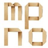 As letras do alfabeto de Origami recicl o ofício de papel ilustração stock