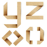 As letras do alfabeto de Origami recicl o ofício de papel fotografia de stock royalty free