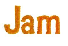 As letras do doce da palavra isoladas no fundo branco Fotos de Stock