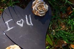 As letras para eu te amo Fotografia de Stock Royalty Free