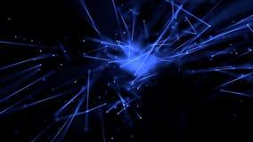 As linhas abstratas incandescem com profundidade do azul do campo ilustração royalty free