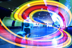 As linhas coloridas claras brilhantes da canaleta interna Imagem de Stock