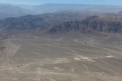 As linhas de Nazca no Peru imagem de stock