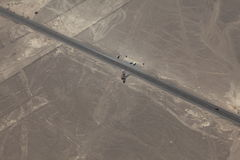 As linhas de Nazca no Peru fotografia de stock
