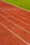 As linhas de partida no estádio. Imagens de Stock