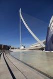 As linhas de uma harpa na cidade das artes e da ciência Fotografia de Stock