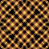 As linhas fundo geométrico bonito do vermelho alaranjado e do preto vector a ilustração Imagem de Stock