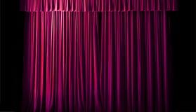 As linhas geométricas da cortina do teatro Fotografia de Stock Royalty Free