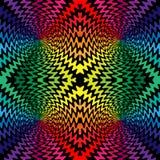 As linhas onduladas coloridas e pretas sem emenda cruzam-se no centro Imagem de Stock