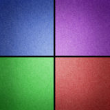 As listras coloridos de Grunge recicl o ofício de papel Fotografia de Stock Royalty Free
