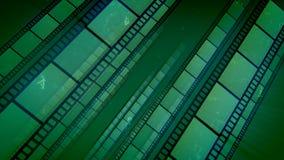 As listras impressionantes do filme verde puseram obliquamente ilustração royalty free