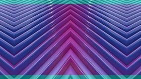 As listras populares da cor do inclinação movem-se ciclicamente Fundo brilhante sem emenda liso do sumário 3d em 4k Geometria sim vídeos de arquivo