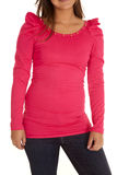 As luvas cor-de-rosa do fluff fecham-se acima fotos de stock royalty free