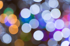 As luzes borraram o bokeh Fotografia de Stock Royalty Free