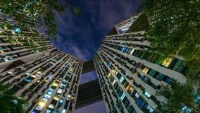 As luzes coloridas das torres Imagens de Stock