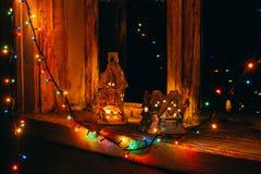 As luzes da celebração Imagens de Stock