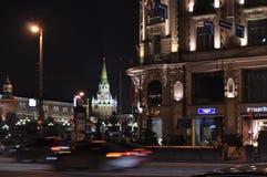 As luzes da cidade na noite Fotos de Stock