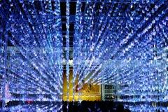 As luzes da iluminação fazem povos felizes em um momento especial Fotografia de Stock Royalty Free
