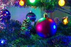 As luzes de ano novo Fotos de Stock Royalty Free