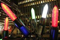 As luzes de Natal desproporcionados fecham-se acima Fotos de Stock