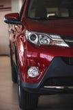 As luzes do carro fecham-se acima Fotos de Stock Royalty Free