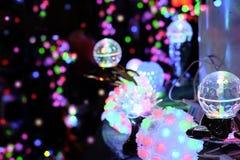 As luzes do festival fazem povos felizes Imagem de Stock
