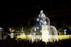 As luzes do festival fazem povos felizes Imagem de Stock Royalty Free