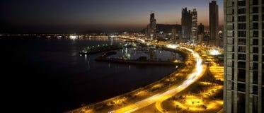 As luzes vão sobre na cidade do ¡ de Panamà fotografia de stock royalty free