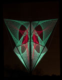 As luzes vermelhas e verdes criaram a formação 3D no preto Foto de Stock Royalty Free