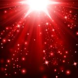 As luzes vermelhas que brilham com polvilham Fotografia de Stock Royalty Free