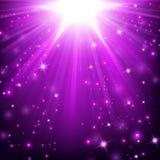 As luzes violetas que brilham com polvilham Imagem de Stock Royalty Free