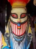 As máscaras da escultura do monstro mostram no museu de arte popular do folclore de PHI-TA-KHON Imagem de Stock