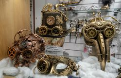 As máscaras do carnaval de Veneza em uma versão nova e futurista fotografia de stock royalty free