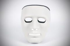 As máscaras preto e branco gostam do comportamento humano, concepção Foto de Stock
