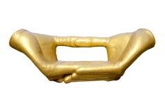 As mãos budistas da meditação do ouro Foto de Stock Royalty Free