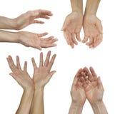 As mãos de um médico cura da energia fotos de stock royalty free