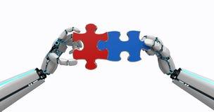 As mãos do robô confundem ilustração do vetor