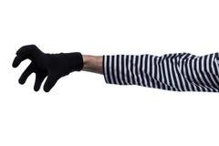 As mãos dos criminosos. Imagem de Stock Royalty Free